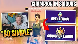How Tfue Reached Champion Division in 3 Hours...