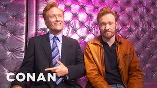 Conan Checks In On His Wax Figure 01/27/11