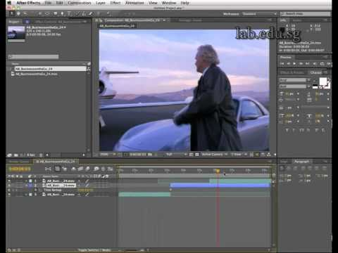 Stop and Go (freeze frame) with Adobe After Effects