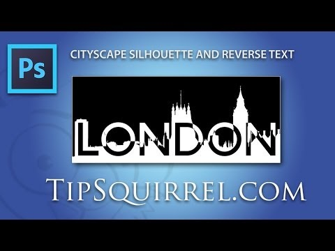 Photoshop a Cityscape Silhouette With Reverse Text