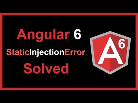 Angular 6 staticInjectionError Solved | vishAcademy