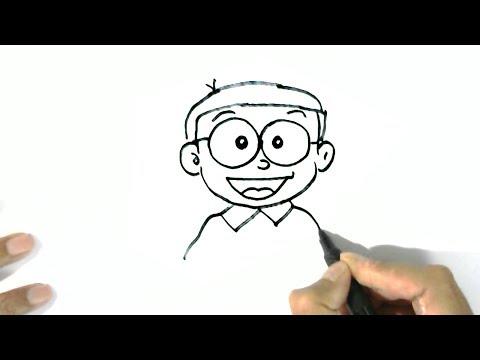 How to draw Nobita Nobi -Doraemon  in easy steps for children. beginners
