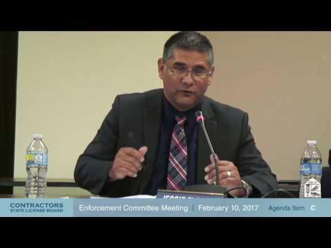 CSLB Enforcement Committee Meeting 02.10.17