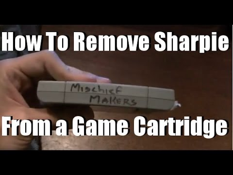 How To Remove Permanent Marker From a Game Cartridge