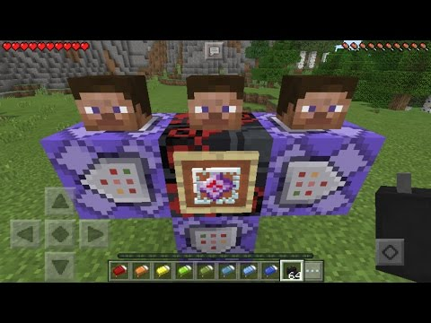 EPIC COMMAND BLOCK CREATIONS in Minecraft Pocket Edition 1.1!!!