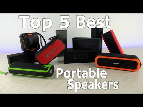 Top 5 Best Portable Speakers Review + Giveaway with 10 Winners!