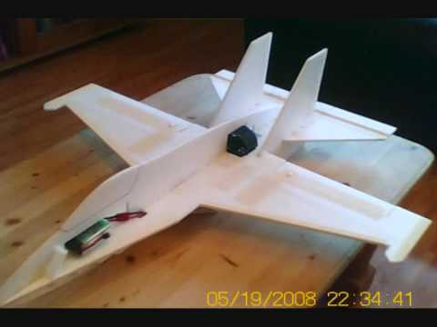 RC F-18 6mm Depron built Jet from scratch.