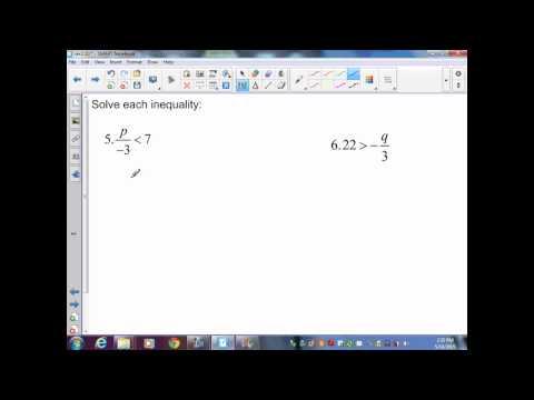 sec2 10 Pre Algebra Solving One Step  Inequalities by Multiplying or Dividing