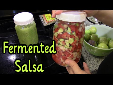 How To make Fermented Salsa ~ Red and Green recipe