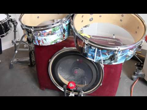 How to make a Suitcase Drum Kit