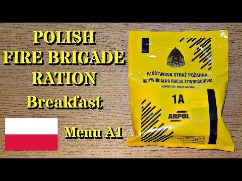 MRE Review: Polish Fire Brigade Ration -- Breakfast Menu A1 (or 1A?)