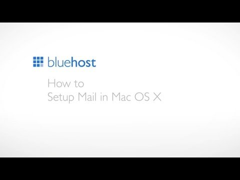 How to setup Mail in Mac OS X