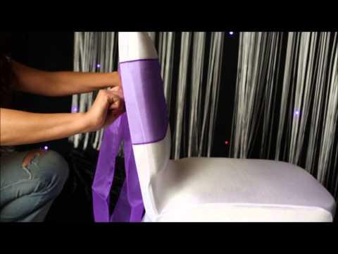 Tutorial on making a beautiful organza sash Bow