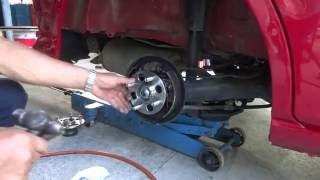 HONDA フィットのリアハブベアリング交換 How to rear replace hub bearing:Fit