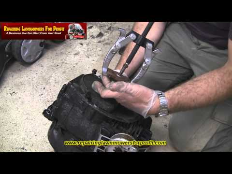 Repairing Lawnmowers For Profit Part 46 (Removing a Lawnmower Blade Boss/ Adapter)
