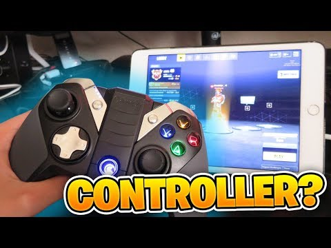 PLAYING Fortnite Mobile on IPAD using a CONTROLLER