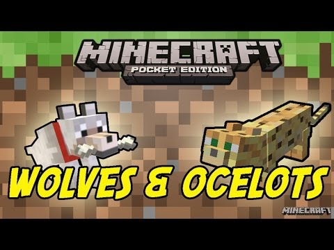 WOLVES AND OCELOTS! Minecraft PE: [0.9.0] Update Video
