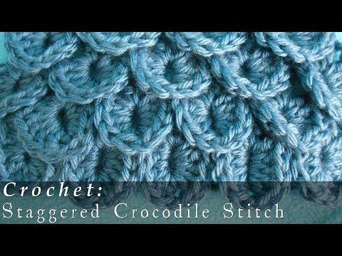 Crocodile Stitch   Staggered { Crochet }