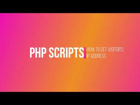 How to get visitor's IP address using PHP script.