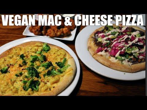 Mac & Cheese Pizza & Buffalo Cauliflower Bites VEGAN (SAGE LA) YouTube Space