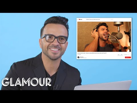 Luis Fonsi Watches Fan Covers On YouTube | You Sang My Song | Glamour