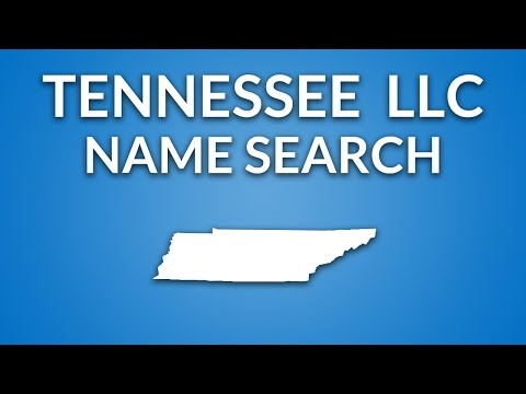Tennessee LLC - Name Search