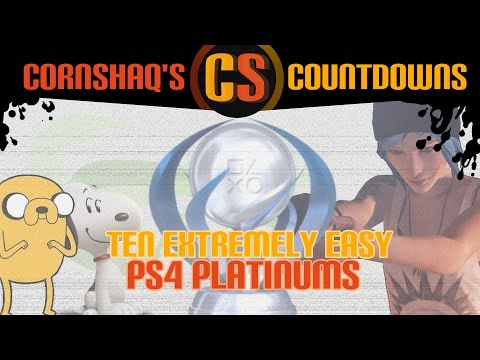 10 EXTREMELY EASY PS4 PLATINUM TROPHIES