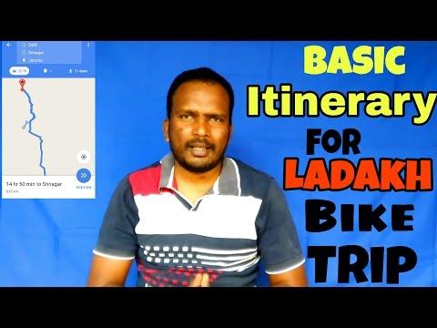 Basic Itinerary for Leh-Ladakh BIKE trip. Route plan for You .[Hindi]