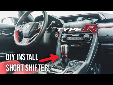 INSTALLING A SHORT SHIFTER ON THE 2018 TYPE R! DIY