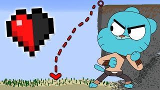 99% IMPOSSIBLE TO ESCAPE GUMBALL WITH HALF A HEART IN MINECRAFT