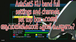 Asiasat 5 @100 5 E full setting aur channel list two feet