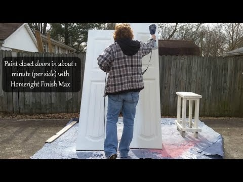 My Repurposed Life how to Paint Closet Doors with a Finish Max Paint Sprayer