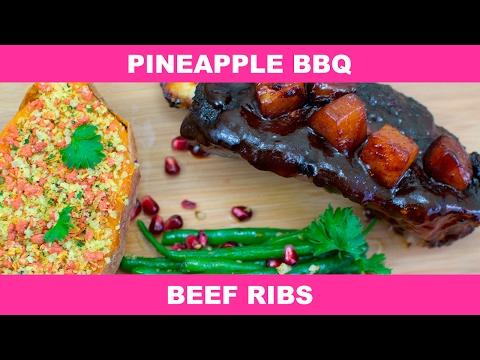 Pineapple BBQ Beef Ribs