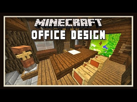 Minecraft: Ranch Office Furniture Design   ( How To Build A House -  part 11)