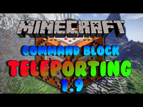 Tutorial 1.9 + 1.10  | How to Teleport Using Command Blocks