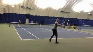 Fanni Stollar Lag and Snap Forehand Slow Motion