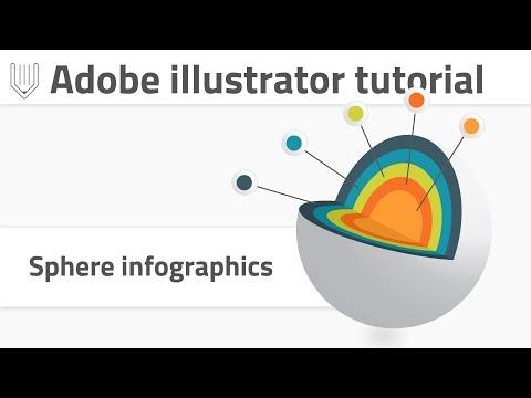 Create professional vector 3d infographics template. Adobe Illustrator tutorial.