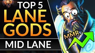 Top 5 BEST HEROES to DESTROY IN LANE - Pro Mid Drafting Tips to CRUSH Early Game | Dota 2 Guide