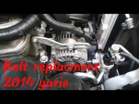 2014 Yaris belt replacment