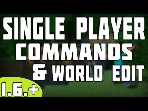 How To Install Single Player Commands & World Edit - Minecraft 1.6.2 - tutorial
