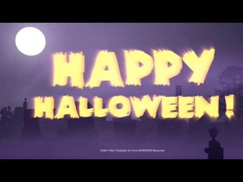 Business Halloween Greetings - Spooky Holiday Greetings - Low Cost Halloween Video Templates
