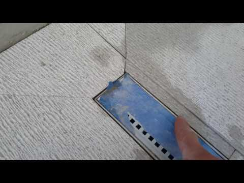 Shower linear drain tile installation tips