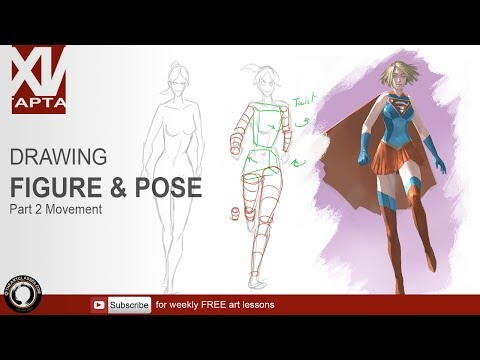 Drawing figure and pose tips part 2 movement