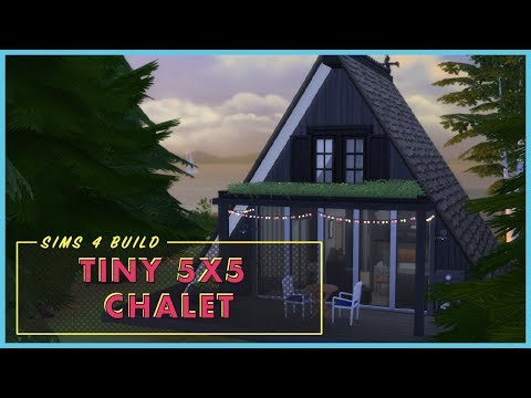 017 // 5x5 Rustic Modern Chalet [The Sims 4 Build]