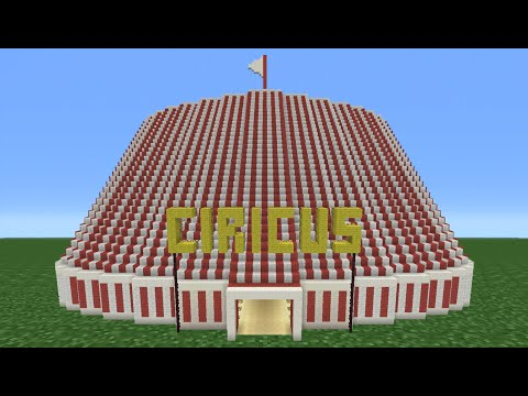 Minecraft Tutorial: How To Make A Circus (Including Inside)