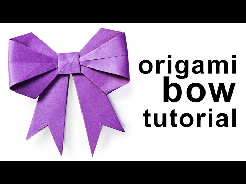 Origami - How to fold a paper Bow/Ribbon ♥︎ Paper Kawaii