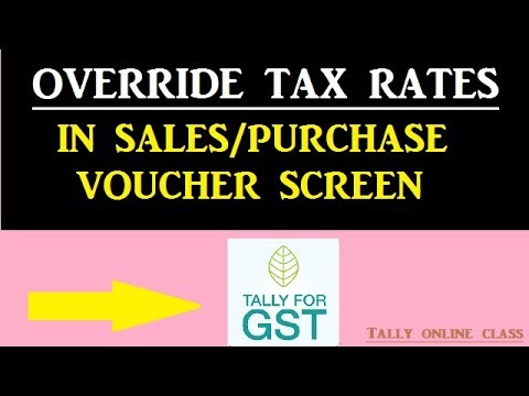Override Tax Rates  in SALES/PURCHASE Voucher Screen
