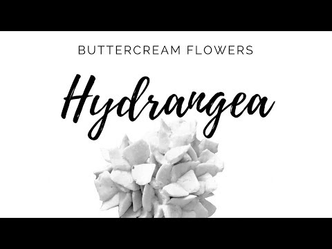 BUTTERCREAM Hydrangea - How to make Buttercream Flowers by Olga Zaytseva