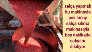 Domates salçası / salça / domates / nasıl yapılır / salça tarifi / salça makinası / salça makinesi