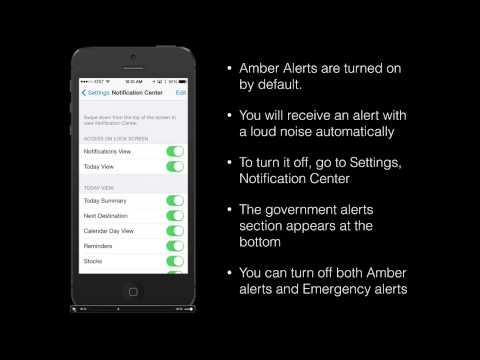 How to turn off Amber Alerts or Emergency Alerts on your iPhone in iOS7